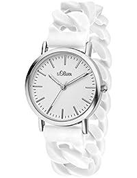 s.Oliver Damen-Armbanduhr Analog Quarz Silikon SO-3263-PQ