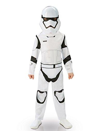 Stormtrooper Star Wars Kinderkostüm Lizenzware weiss-schwarz 110/116 (5-6 Jahre) (Futuristische Kostüme Outfit)