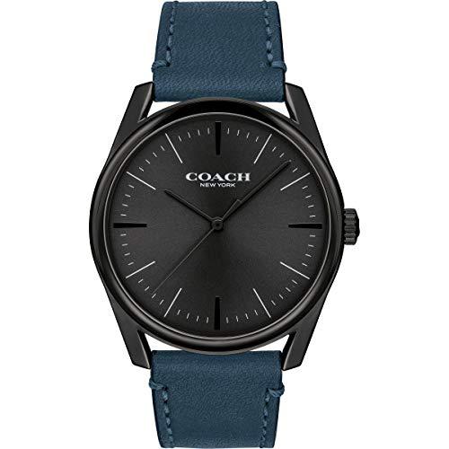 Coach | orologio da uomo moderno di lusso | cinturino in pelle blu |...
