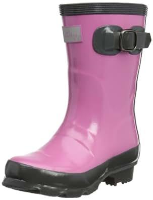 hatley Girls Splash Boots Girls Wellington Boots RB5CGPR001 Orchid Lily 3 UK(34 EU)