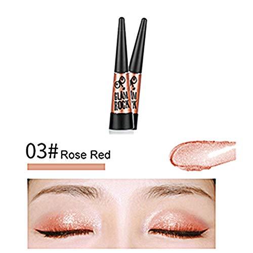 PinkLu lidschatten flüssig,wasserdichter Glitter Lidschatten Eyeliner Shimmer Makeup Cosmetics,27g