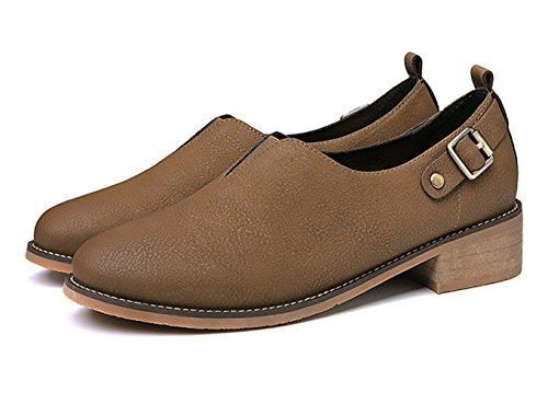XTIAN , chaussons d'intérieur femme marron foncé