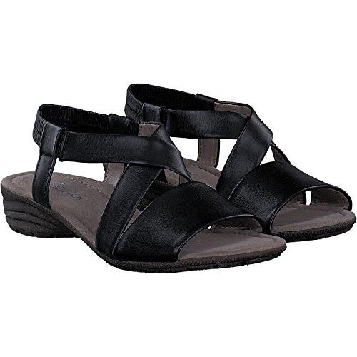 Gabor Casual Sandalette in Übergrößen Schwarz 84.550.27 große Damenschuhe, Größe:46
