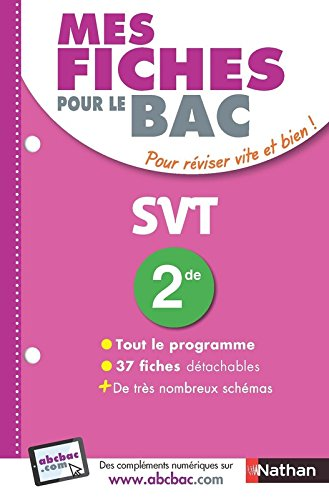 Mes fiches pour le BAC SVT 2de