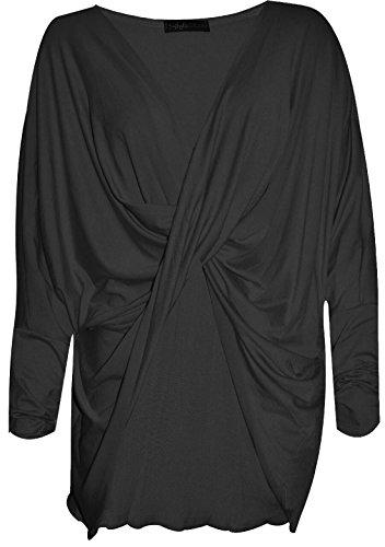 Flirty Wardrobe Top ample pour plus de croix-Femme Noir - Noir