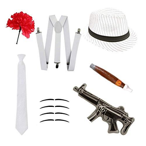 Disfraz gángster Set - Sombrero Trilby