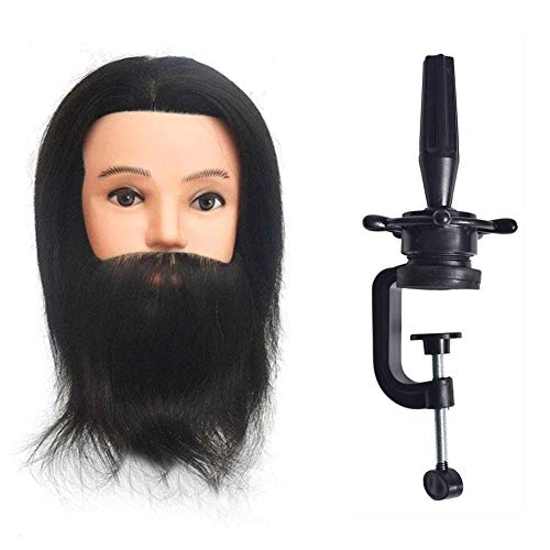 (Bulary Training Mannequin Kopf Männer Kopf Modell mit Bart, Mann Perücke Kopf Display Styling Kopf Modell)