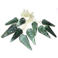 Lot-10 Moss Achat Dowser Pendel Kristall-Heilung, Reiki Feng-Shui, Geschenk für Frieden, Meditation, Gesundheit... preisvergleich bei billige-tabletten.eu