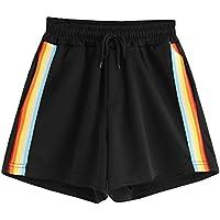 Mujer Rainbow Rayas Pantalones Cortos Pantalones Casuales Pantalones deportivos Pantalones de yoga