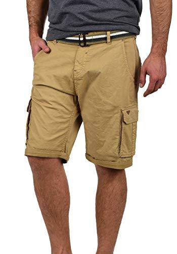 Blend Brian Herren Cargo Shorts Bermuda Kurze Hose Mit Gürtel Regular Fit, Größe:M, Farbe:Sand Brown (75107)