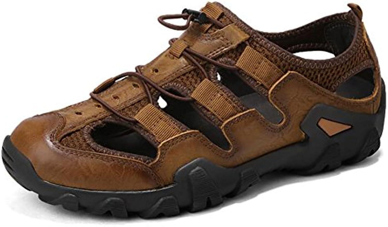 QSYUAN Scarpe Da Uomo Estate New Leather Leather Leather Outdoor Scarpe Da Spiaggia Piedi E Comfort Traspirante Antiscivolo Assalto... | Ottima qualità  | Uomo/Donne Scarpa  6f0ccb
