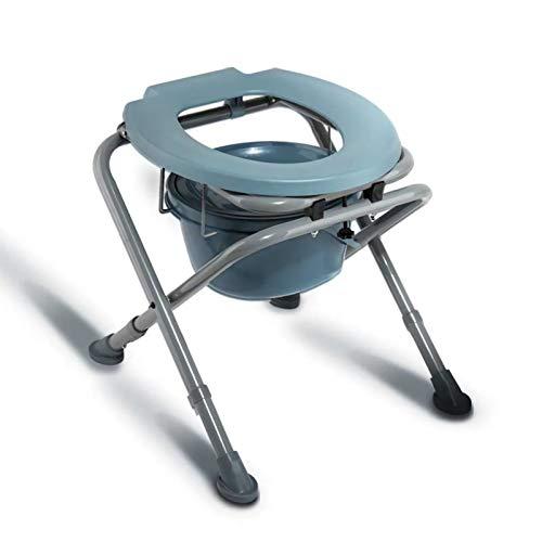 Kommode Tragbarer Klapp-Toilettensitz - Töpfchen Verstellbarer Kommode Stuhl - Komfortstuhl Perfekt für Menschen mit eingeschränkter Mobilität -