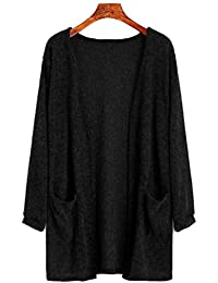 CHENGYANG Donna Knit Cardigan Maniche Lunghe Maglia Jacket Sweatshirt Tops  con Tasca bf4e62bbbe4