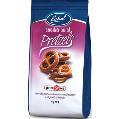 Eskal - Milk Chocolate Coated Pretzels - 75g (Case of 12)