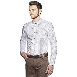 Altinyildiz Classics - Camisa formal - Lunares - para hombre Weiß Large