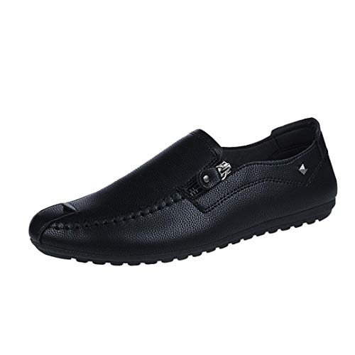 WWricotta LuckyGirls Hombre Zapatillas para Andar Casual Calzado de Planos Transpirables Zapatos Informales Bambas Zapatos de Cuero para Perezoso Náuticos Mocasines