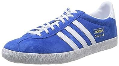 adidas Gazelle OG, Men's Trainers, Airorce Blue/White/Metallic Gold, 4 UK