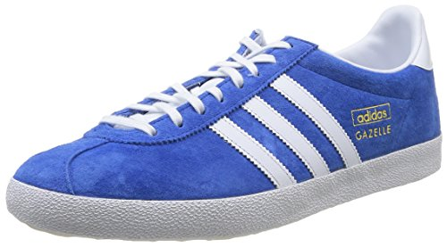 adidas Gazelle OG, Herren Sneakers, Blau (Air Force Blue/White/Metallic Gold), 46 EU (11 Herren UK)