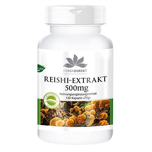 Extracto de Reishi - 500mg - 120 cápsulas veganoas con el 30%...