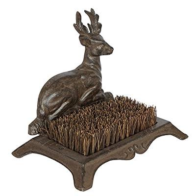 En Fonte Woodland Deer-Accessoire traditionnel porte brosse-pour bottes boueuses H22x Largeur?: 25x 12cm