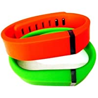 Comparador de precios ! Small S 1pc Green 1pc Red (Tangerine) Replacement Bands + 1pc Free Small Grey Band With Clasp for Fitbit FLEX Only /No tracker/ Wireless Activity Bracelet Sport Wristband Fit Bit Flex Bracelet Sport Arm Band Armband by Pl - precios baratos