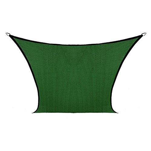 Coolaroo Coolhaven Shade Sail, 95% UV Block Shade and Sun Shield, Medium 12' Square Shade Sail Including Hardware Kit, Sahara Tan - Cellular Shield