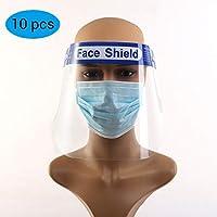 BLLJQ Protector Facial De Seguridad, Parasol Reutilizable Transparente De Cara Completa,Pantallaprotección Facial Transparente(10 Piezas)