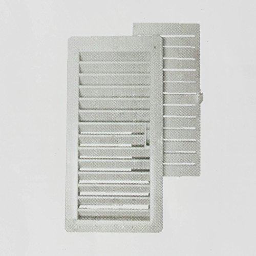 REJILLA VENTILACIÓN PVC CON MARCO Y CIERRE MÓVIL (PACK 4 UNIDADES) (9,5 x 22 cm)