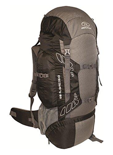 Highlander Discovery - Mochila de senderismo, color negro / gris, 85 L