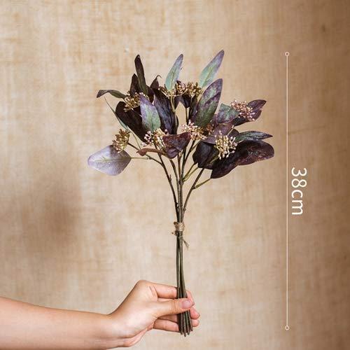 Cmei fiori artificiali il bundle di simulazione mette il bouquet decorazione floreale autunnale composizione floreale realistica decorazione di nozze c