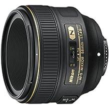 Nikon Nikkor AF-S 58mm f/1.4G - Objetivo para cámara réflex para Nikon (distancia focal fija 58mm, apertura f/1.4-16, diámetro: 72mm), negro