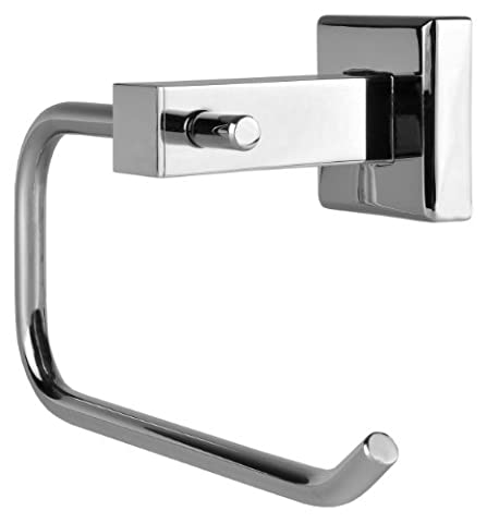 VELMA - 151052 - Premium quality toilet roll holder from our Avant-garde range - classic timeless design - highly polished chrome-plated brass - no plastic - 100% rustproof!