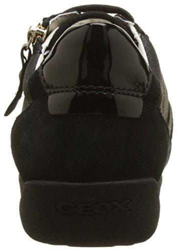 Geox myria A, Scarpe da Ginnastica Basse Donna Nero (Black)