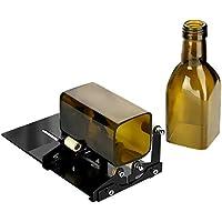 Cortador de botellas, Herramienta para cortar botellas de cristal cuadradas o redondas con accesorios, se ajusta a botellas redondas y cuadradas (Negro)