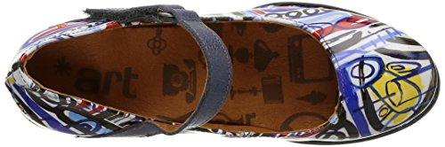 ArtHarlem 933 - Scarpe con Chiusura a T Donna Multicolore (Box)