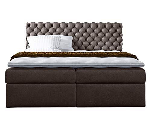 Mirjan24  Boxspringbett Masso, Doppelbett mit 2 Bettkasten Continentalbett, Amerikanisches Bett, Taschenfederkernmatratze, Topper, Ehebett, Farbauswahl
