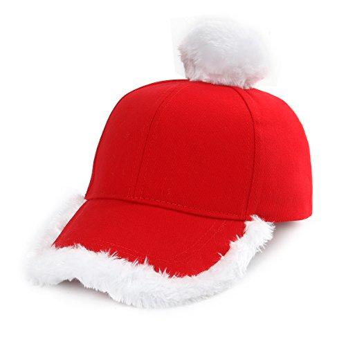 Nofonda Cappello di Babbo Natale. Ideale per Natale. Il berretto rosso e  bianco è il simbolo della festa che tutti i bambini aspettano ff61738b87df