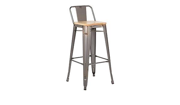 Sklum sgabello alto con schienale lix piallato legno scegli un