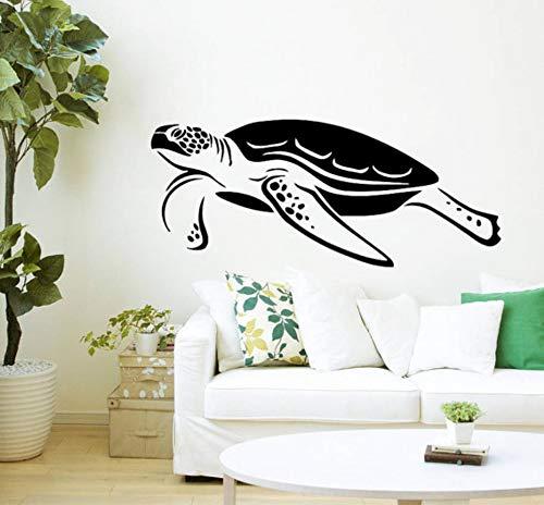 Jqpwan Schwimmen Schildkröte Meerestiere Wasser Schildkröte Schildpatt Stil Wandaufkleber Schlafzimmer Wohnzimmer Kunst Decor 41 * 97 Cm