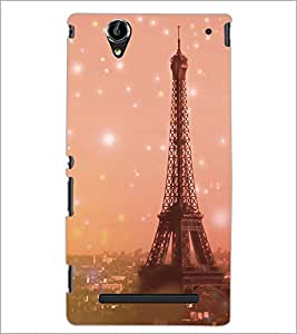 PrintDhaba Tower D-3927 Back Case Cover for SONY XPERIA T2 ULTRA (Multi-Coloured)