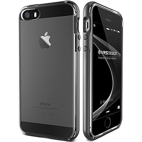 Coque iPhone 5S 5 SE VRS Design® [Or Rose] Transparente Antichoc [Crystal Bumper] Brillante Souple TPU Silicone Case avec Protection Contre les Chutes Housse pour Apple iPhone 5/5S/SE