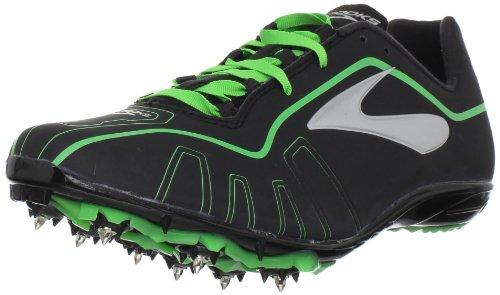 Brooks Qw-k 1000201D309, Unisex - Erwachsene Sportschuhe - Running, Schwarz (Black/Green), 43 EU / 8,5 UK E-qw