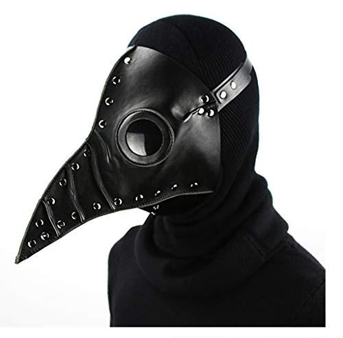 Steampunk Gothic Retro Pest Doktor Bird Maske/Halloween Weihnachts Kostüm Requisiten/Cosplay, Dance Party,Black