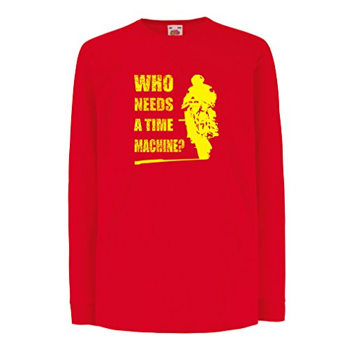 lepni.me Bambini t-Shirt con Maniche Lunghe Abbigliamento Moto (3-4 Years Rosso