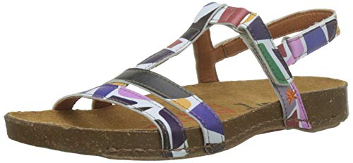 Art 0946f Fantasy Shapes/I Breathe, Sandali Punta Aperta Donna, Multicolore, 40 EU