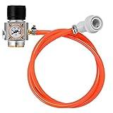 KKmoon Mini Caricatore di gas CO2 Sodastream 0-90 Calibro PSI per Kegerator per Birra ad Acqua Gassata