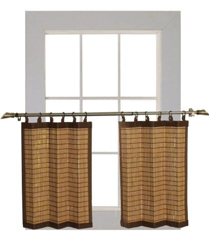 Bamboo Cortina Anillo de bambú BRP072Piezas cm L x 60cm H Nivel Set, Colonial marrón
