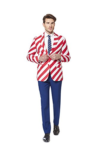 Pac Man Uk Kostüm (Opposuit United Stripes - SlimFit Gr.)