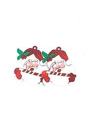 Funcart LED Santa Claus Face Brooch ( 2 Pcs/Pack)