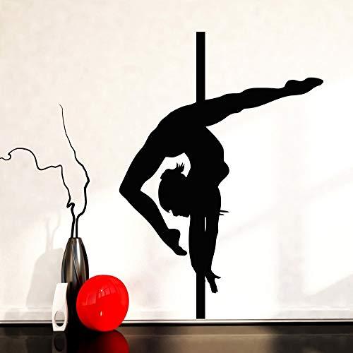 jiushizq Haus Dekoration Wandaufkleber Pole Dance Vinyl Aufkleber Tanzen Für Wohnzimmer Tapete Gesundheit Schwarz 42x57 cm (Cash Eingetragen)
